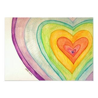 Rainbow Friendship Hearts Invite or Invitations