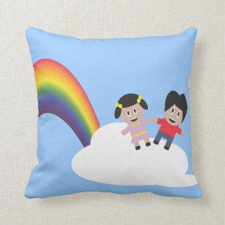 Rainbow Friendship Kids American MoJo Pillow Cushions