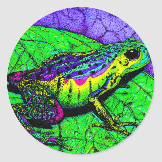 Rainbow Frogs Classic Round Sticker