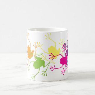 Rainbow Frogs Classic White Coffee Mug