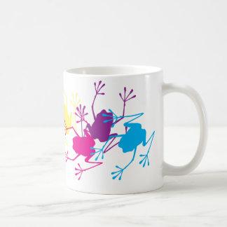 Rainbow Frogs Coffee Mugs