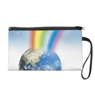 Rainbow from Earth Wristlet Purse