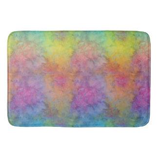 """Rainbow Frost"" Multi-Colored Tie-Dye Bath Mats"
