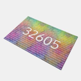 [Rainbow Frost] Multi-Colored Tie-Dye Welcome Doormat