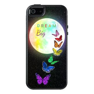 Rainbow Full Moon & Rainbow Butterflies Dream Big OtterBox iPhone 5/5s/SE Case