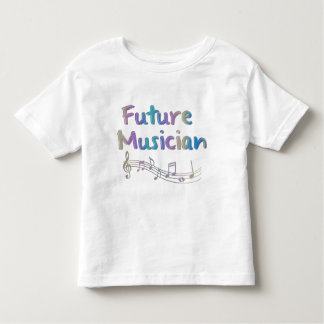 Rainbow Future Musician Musical Notes Kids T-Shirt
