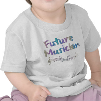 Rainbow Future Musician Musical Notes Kid's Tee