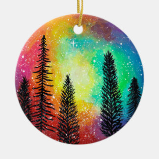 Rainbow Galaxy Ornament - Rainbow Forest Ornament