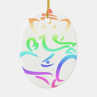 Rainbow Ganesha Christmas Ornament