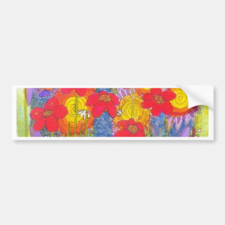 Rainbow Garden Bumper Sticker