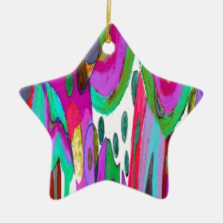 Rainbow garden christmas ornament