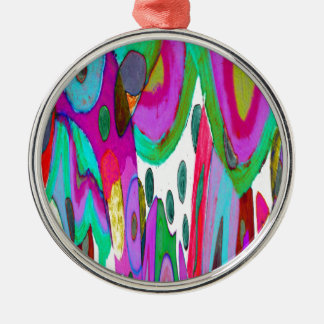 Rainbow garden christmas ornament