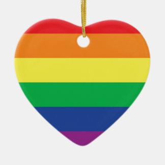 Rainbow Gay Freedom Pride Flag Symbol Christmas Ornament