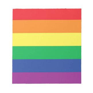 Rainbow Gay Freedom Pride Flag Symbol Notepad