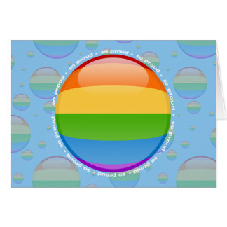 Rainbow Gay Lesbian Pride Bubble Flag Greeting Card
