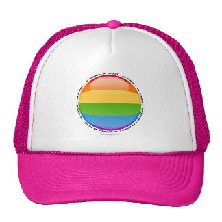 Rainbow Gay Lesbian Pride Bubble Flag Hat