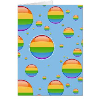 Rainbow Gay Lesbian Pride Bubble Flag Note Card