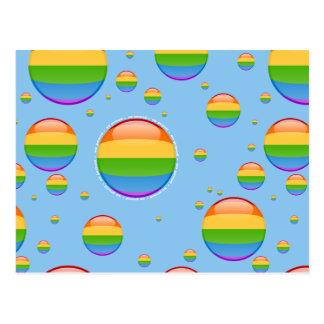 Rainbow Gay Lesbian Pride Bubble Flag Post Card