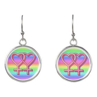 Rainbow Gay Lesbian Pride Hanging Earrings