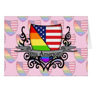 Rainbow Gay Lesbian Pride Shield Flag Greeting Card