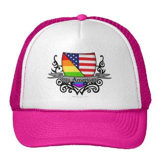 Rainbow Gay Lesbian Pride Shield Flag Hat