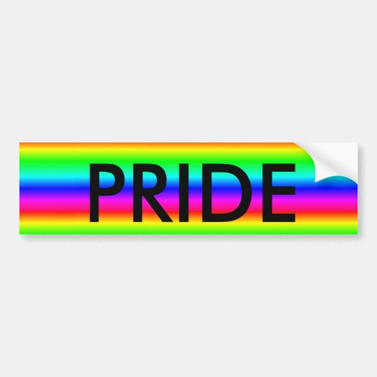 "Rainbow ""Gay or LGBT PRIDE"" Bumper sticker"