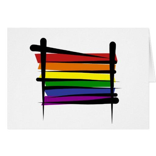 Rainbow Gay Pride Brush Flag Cards
