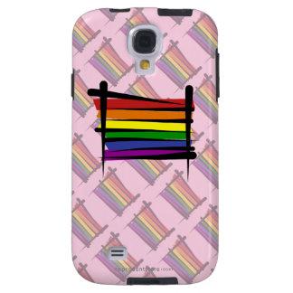 Rainbow Gay Pride Brush Flag Galaxy S4 Case
