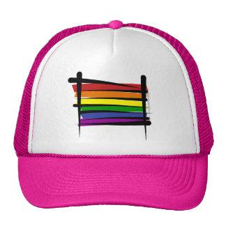 Rainbow Gay Pride Brush Flag Mesh Hats