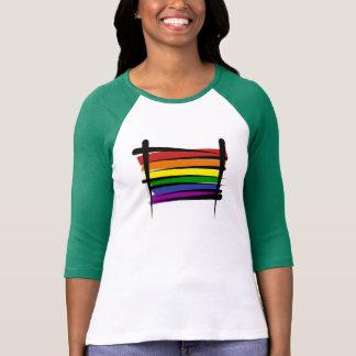 Rainbow Gay Pride Brush Flag Shirt