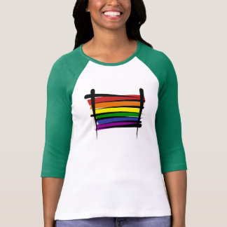 Rainbow Gay Pride Brush Flag T-Shirt