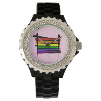 Rainbow Gay Pride Brush Flag Watch