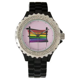Rainbow Gay Pride Brush Flag Watches