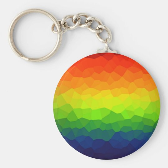Rainbow Gay Pride Colours LBGT Symbol Basic Round Button Key Ring