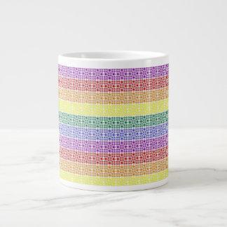 Rainbow Gay Pride Flag Abstract Jumbo Mug