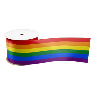 RAINBOW GAY PRIDE FLAG | RIBBON SATIN RIBBON