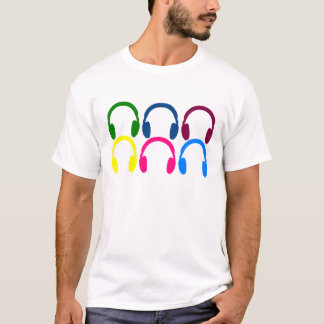 Rainbow Gay Pride Headphones EDM Music Disco DJ T-Shirt