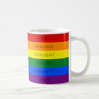 RAINBOW GAY PRIDE LGBT FLAG QUOTE | MUG