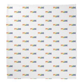 Rainbow Gay Pride On White Bandana