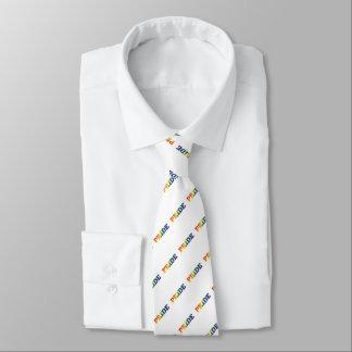 Rainbow Gay Pride On White Tie
