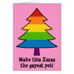Rainbow Gay Xmas Tree