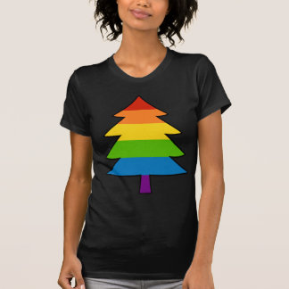 Rainbow Gay Xmas Tree T-Shirt