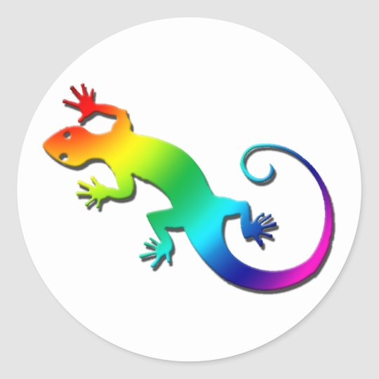 Rainbow Gecko Stickers