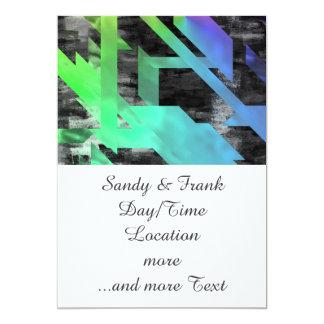 Rainbow Geo 13 Cm X 18 Cm Invitation Card