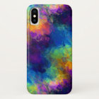 Rainbow Geologic Crystal Abstract Pattern iPhone X Case