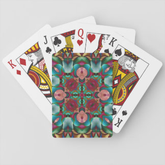 Rainbow Geometric Colorful Mandala Playing Cards