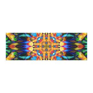 Rainbow Geometric Floral Colorful Unique Art Stretched Canvas Prints