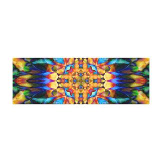 Rainbow Geometric Floral Colorful Unique Art Stretched Canvas Print