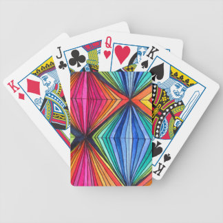 Rainbow Geometric Optical Art Bicycle Playing Cards