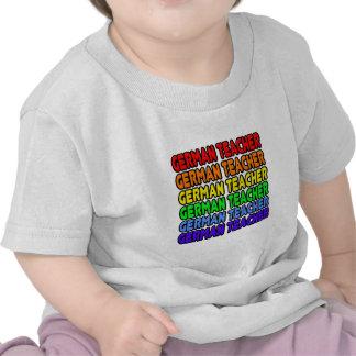 Rainbow German Teacher Tshirts